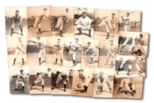COLLECTION OF (20) C. 1927 NEW YORK YANKEES INDIVIDUAL PLAYER PHOTOGRAPHS BY THORNE STUDIOS