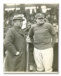 1923 BABE RUTH AND WILBERT ROBINSON ORIGINAL WIRE PHOTO BY WIDE WORLD PHOTOS