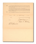"1922 ""BULLET"" JOE BUSH SIGNED NEW YORK YANKEES UNIFORM PLAYERS CONTRACT ALSO SIGNED BY RUPPERT, BARROW AND BAN JOHNSON"
