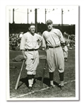 1921 WORLD SERIES IRISH AND BOB MEUSEL NEWS SERVICE PHOTOGRAPH BY KADEL AND HERBERT