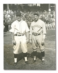 1927 WORLD SERIES GAME 1 STARTERS WAITE HOYT AND RAY KREMER NEWS SERVICE PHOTOGRAPH BY UNDERWOOD AND UNDERWOOD