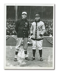 1923 YANKEE STADIUM OPENING DAY STARTERS HOWARD EHMKE AND BOB SHAWKEY INTERNATIONAL NEWS SERVICE PHOTOGRAPH