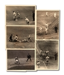 LOT OF (5) 1923 WORLD SERIES INTERNATIONAL NEWS SERVICE PHOTOGRAPHS