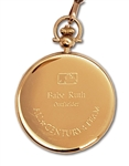 "BABE RUTH MAJOR LEAGUE BASEBALL ""ALL-CENTURY TEAM"" GOLD POCKET WATCH BY TIFFANY & CO. (RUTH FAMILY LOA)"