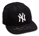 "2002 MARIANO RIVERA AUTOGRAPHED NEW YORK YANKEES GAME USED CAP INSCRIBED ""2002 GAME HAT"" (STEINER)"