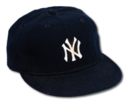 EARLY 1990S DON MATTINGLY AUTOGRAPHED NEW YORK YANKEES GAME USED CAP