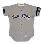 1979 ROY WHITE NEW YORK YANKEES GAME WORN ROAD JERSEY (MEARS A10)