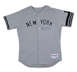2007 JOE TORRE AUTOGRAPHED NEW YORK YANKEES GAME WORN ROAD JERSEY (STEINER, MLB AUTH.)