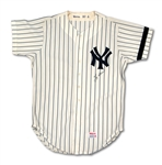 1980 YOGI BERRA AUTOGRAPHED NEW YORK YANKEES GAME WORN HOME COACHS JERSEY