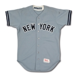 1987 DON MATTINGLY NEW YORK YANKEES GAME WORN ROAD JERSEY (MEARS A10)