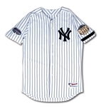 SEPT. 21, 2008 MIKE MUSSINA NEW YORK YANKEES GAME WORN HOME JERSEY FROM TEAMS FINAL GAME AT OLD YANKEE STADIUM (STEINER, MLB AUTH.)