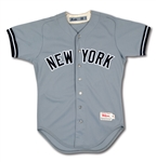 1988 BILLY MARTIN NEW YORK YANKEES MANAGER GAME WORN ROAD JERSEY