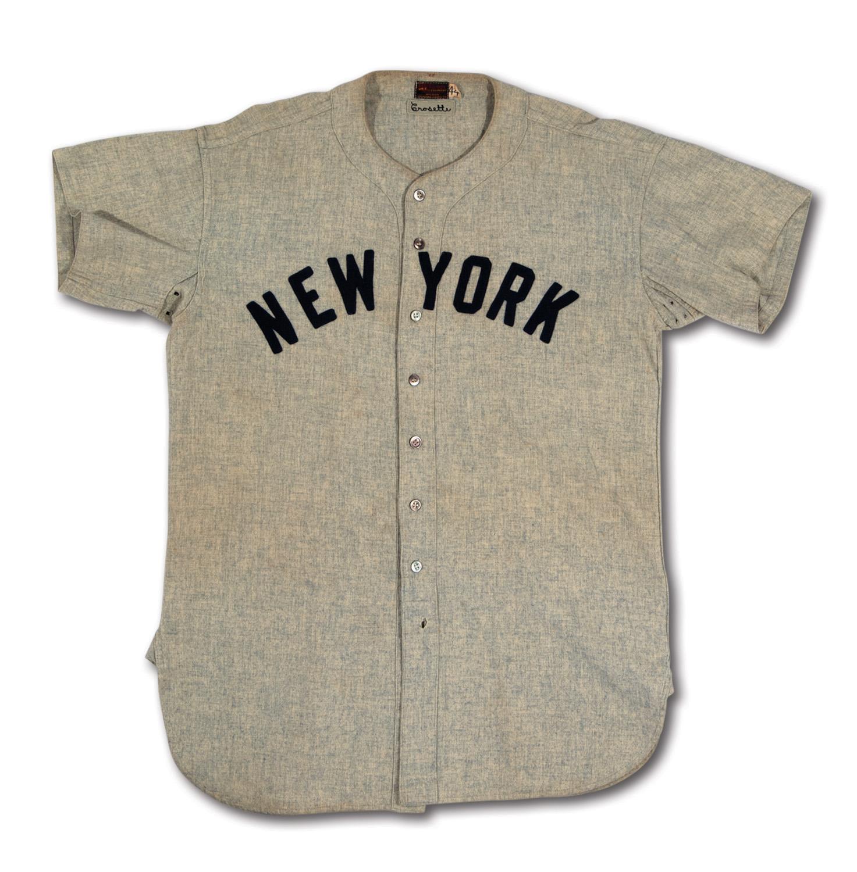 the latest d04ff b09ed Lot Detail - C. 1946-47 FRANK CROSETTI NEW YORK YANKEES GAME ...