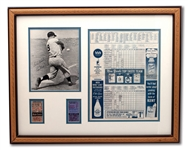 ROGER MARIS 1961 FRAMED DISPLAY INCL. HR #60 AND #61 TICKET STUBS, SIGNED PHOTO AND OCT. 1, 1961 SCORED PROGRAM FROM HR #61 GAME
