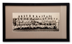 1933 NEW YORK YANKEES PANORAMIC TEAM PHOTO WITH RUTH AND GEHRIG (THORNE STUDIOS)