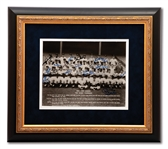 1962 NEW YORK YANKEES WORLD CHAMPION REUNION TEAM SIGNED PHOTOGRAPH