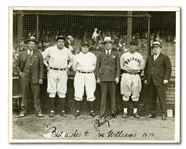 1932 WORLD SERIES MULTI-SIGNED PHOTOGRAPH INCL. BABE RUTH, JOE McCARTHY, CHRISTY WALSH AND OTHERS