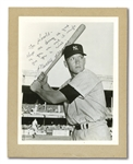 "1952 MICKEY MANTLE AUTOGRAPHED 8"" BY 10"" ORIGINAL PHOTOGRAPH BY DON WINGFIELD USED FOR HIS WHEATIES CARD"