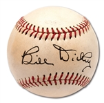 C. 1950S BILL DICKEY VINTAGE SINGLE SIGNED BASEBALL (PSA/DNA 10 AUTO. / 9 OVERALL)