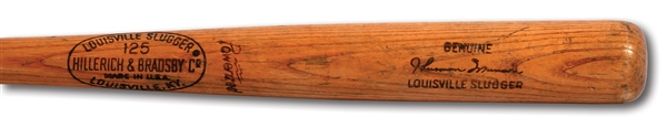 1970-72 THURMAN MUNSON (ROOKIE ERA) GAME USED HILLERICH & BRADSBY PROFESSIONAL MODEL BAT (PSA/DNA GU 8)
