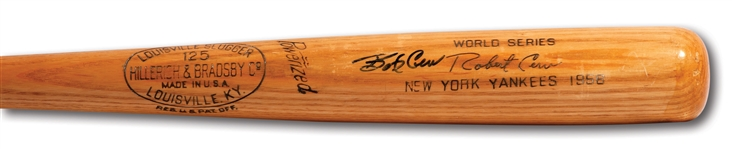 BOB CERV AUTOGRAPHED 1956 WORLD SERIES HILLERICH & BRADSBY PROFESSIONAL MODEL GAME ISSUED BAT