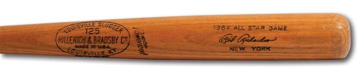 BOBBY RICHARDSON 1964 ALL-STAR GAME HILLERICH & BRADSBY PROFESSIONAL MODEL GAME ISSUED BAT