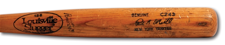 1993-97 PAUL ONEILL LOUISVILLE SLUGGER PROFESSIONAL MODEL GAME USED BAT (PSA/DNA GU 9)