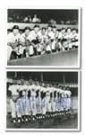 PAIR OF 1950S NEW YORK YANKEES STARS MULTI-SIGNED PHOTOGRAPHS