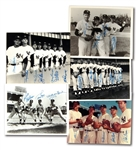 GROUP OF (5) 1950S NEW YORK YANKEES STARS MULTI-SIGNED PHOTOGRAPHS