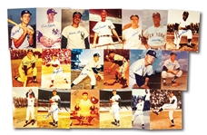 COLLECTION OF (32) 1950S-60S NEW YORK YANKEES STARS AND HOFERS AUTOGRAPHED COLOR PHOTOGRAPHS