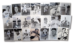 COLLECTION OF (41) 1950S-60S NEW YORK YANKEES STARS AUTOGRAPHED B&W PHOTOGRAPHS