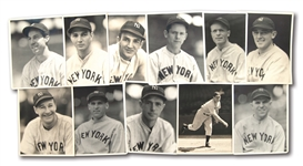 "COLLECTION OF (11) C. 1933 NEW YORK YANKEES INDIVIDUAL PLAYER 8"" BY 10"" PORTRAIT PHOTOGRAPHS BY GEORGE BURKE"