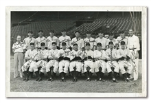 "1937 INTERNATIONAL LEAGUE CHAMPION NEWARK BEARS AUTOGRAPHED TEAM PHOTO – ""THE 1927 YANKEES OF THE MINOR LEAGUES"""