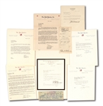 LOT OF (7) NEW YORK YANKEES EXECUTIVES SIGNED CORRESPONDENCE AND DOCUMENTS