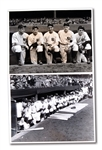 PAIR OF 1937 NEW YORK YANKEES WORLD SERIES RELATED ORIGINAL WIRE PHOTOGRAPHS