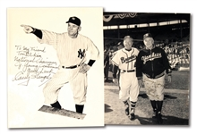 PAIR OF CASEY STENGEL AUTOGRAPHED PHOTOGRAPHS