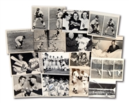 LOT OF (15) MICKEY MANTLE ORIGINAL NEWS SERVICE PHOTOGRAPHS