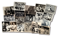 LOT OF (18) JOE DiMAGGIO ORIGINAL NEWS SERVICE PHOTOGRAPHS