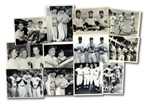 LOT OF (12) NEW YORK YANKEES VINTAGE PHOTOGRAPHS FEATURING MANTLE AND MARIS – MOSTLY NEWS SERVICE PHOTOS
