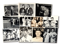 LOT OF (11) MICKEY MANTLE ORIGINAL PHOTOGRAPHS – MOSTLY NEWS SERVICE PHOTOGRAPHS