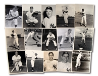 LOT OF (15) 1950S-60S NEW YORK YANKEES INDIVIDUAL PLAYER ORIGINAL PHOTOGRAPHS
