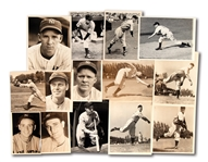 LOT OF (14) 1930S-40S NEW YORK YANKEES INDIVIDUAL PLAYER NEWS SERVICE PHOTOGRAPHS
