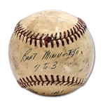 5/3/1961 BOB TURLEY GAME BALL FROM CG VICTORY OVER TWINS - ROGER MARIS HIT HR #2 OF 61 (MEARS LOA, TURLEY ESTATE)