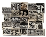 LOT OF (23) 1950S NEW YORK YANKEES NEWS SERVICE PHOTOGRAPHS