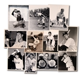 LOT OF (11) 1950S NEW YORK YANKEES INDIVIDUAL PLAYER NEWS SERVICE PHOTOGRAPHS