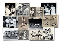 LOT OF (12) 1960S NEW YORK YANKEES NEWS SERVICE PHOTOGRAPHS