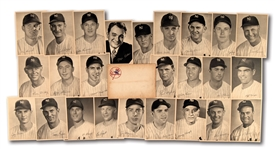 1949 NEW YORK YANKEES TEAM PICTURE PACK COMPLETE SET (25) WITH ORIGINAL ENVELOPE