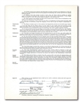 1949 YOGI BERRA SIGNED NEW YORK YANKEES UNIFORM PLAYER'S CONTRACT