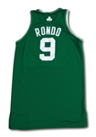10/10/2007 RAJON RONDO BOSTON CELTICS GAME WORN JERSEY - NBA EUROPE LIVE TOUR VS. T-WOLVES IN LONDON (MEIGRAY/NBA LOA)