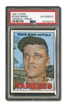 1967 TOPPS #45 ROGER MARIS YANKEES BLANK BACK PROOF - PSA AUTHENTIC